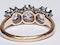 Antique diamond trilogy engagement ring  DBGEMS - image 5