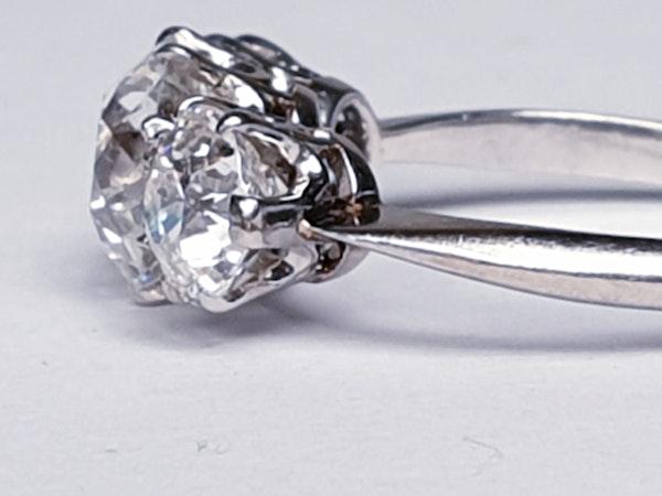 Art Deco Trilogy Diamond Ring - image 5