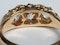 Antique three stone diamond carved half hoop ring  DBGEMS - image 3