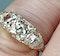 Antique three stone diamond carved half hoop ring  DBGEMS - image 2