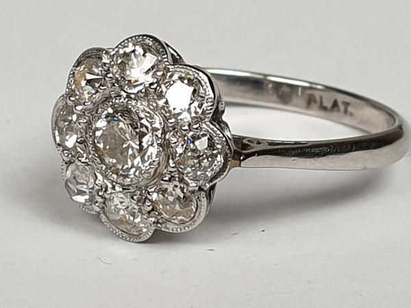 Art Deco Diamond Cluster Ring  DBGEMS - image 2