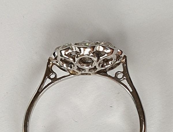 Art Deco Diamond Cluster Ring  DBGEMS - image 4