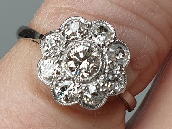 Art Deco Diamond Cluster Ring  DBGEMS - image 3