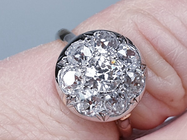 Antique Diamond Cluster Ring  DBGEMS - image 3
