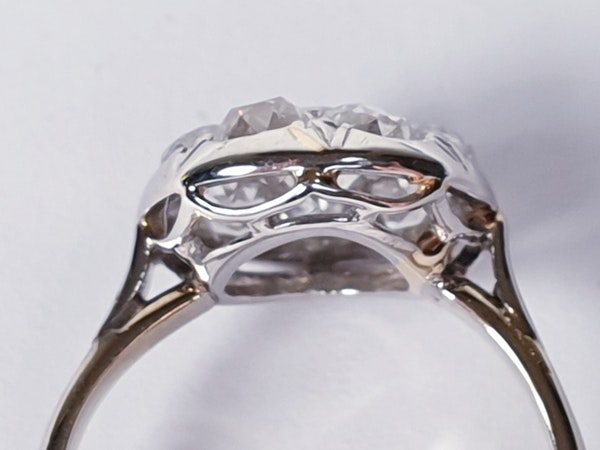 Antique Diamond Cluster Ring  DBGEMS - image 4