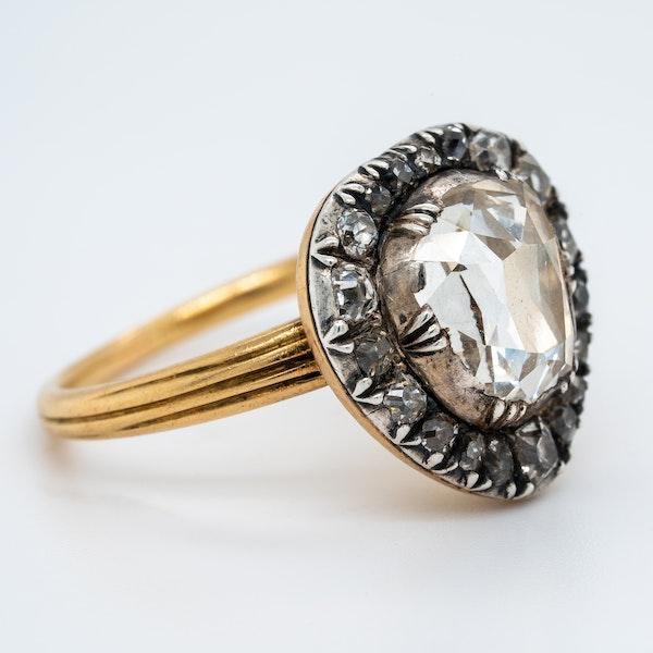 Georgian diamond heart shaped ring - image 2