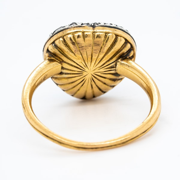 Georgian diamond heart shaped ring - image 4