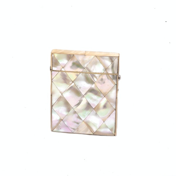A silver & mother of pearl card case - image 2
