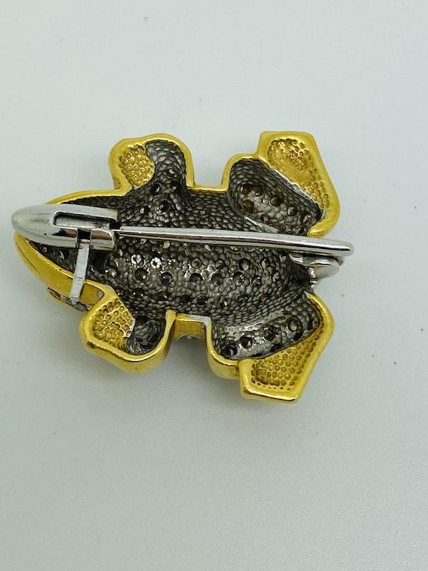 18K white/yellow gold Diamond Brooch - image 3
