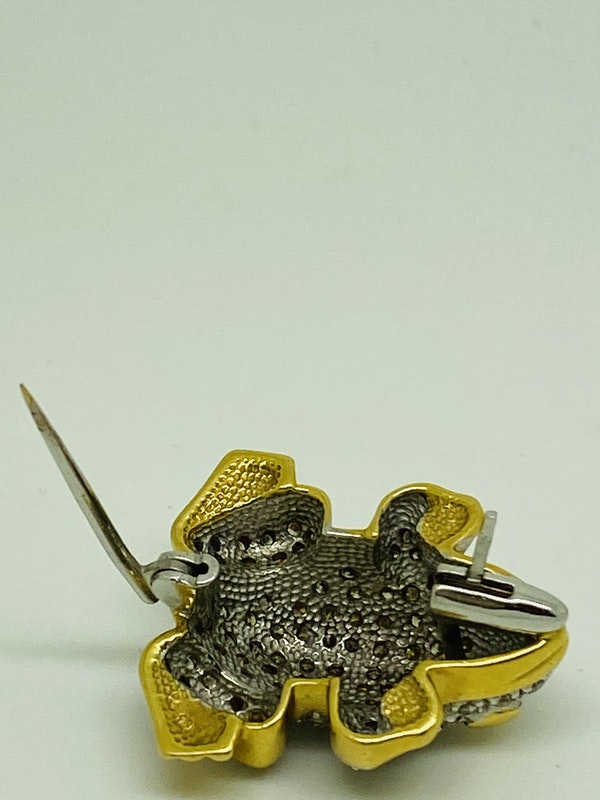 18K white/yellow gold Diamond Brooch - image 5