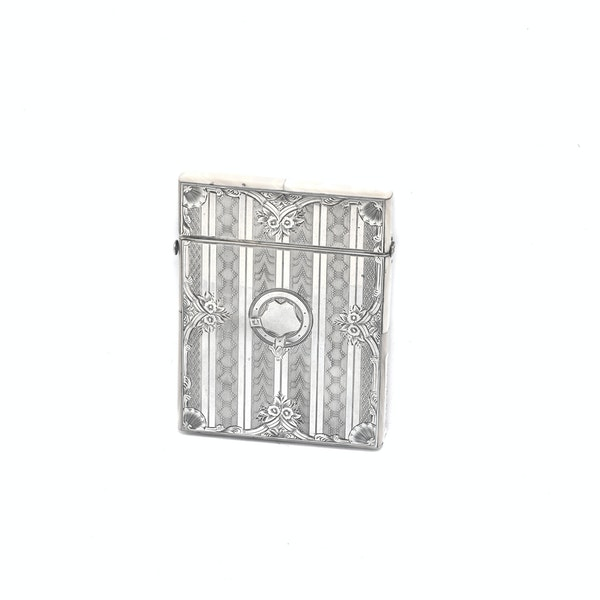 A silver & mother of pearl card case - image 3