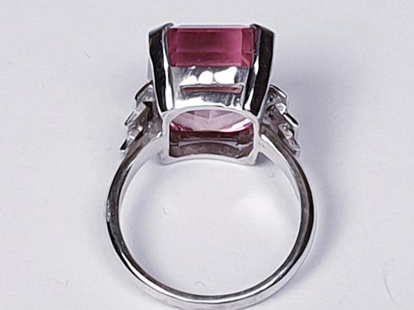 Pink tourmaline and diamond dress ring  DBGEMS - image 3