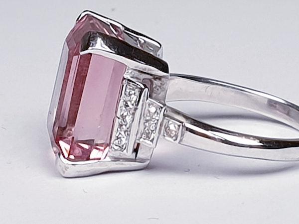 Pink tourmaline and diamond dress ring  DBGEMS - image 4