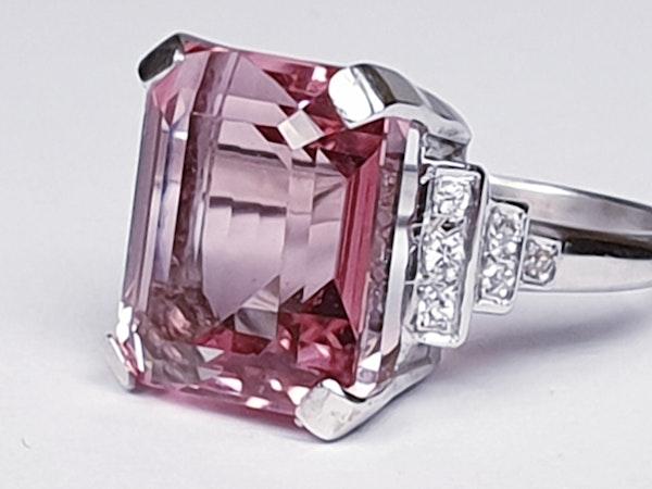 Pink tourmaline and diamond dress ring  DBGEMS - image 5