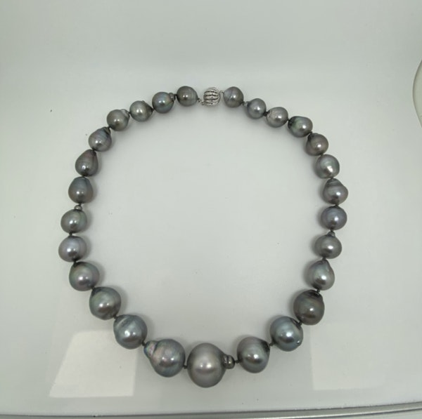 Sea Cultured Black Pearl Necklace - image 2