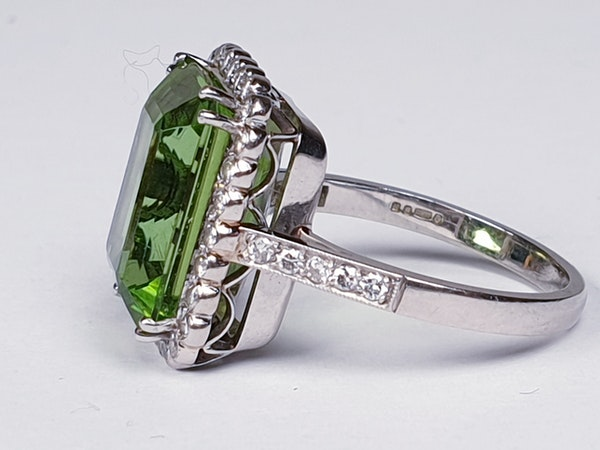 Peridot and Diamond Cluster Ring  DBGEMS - image 4