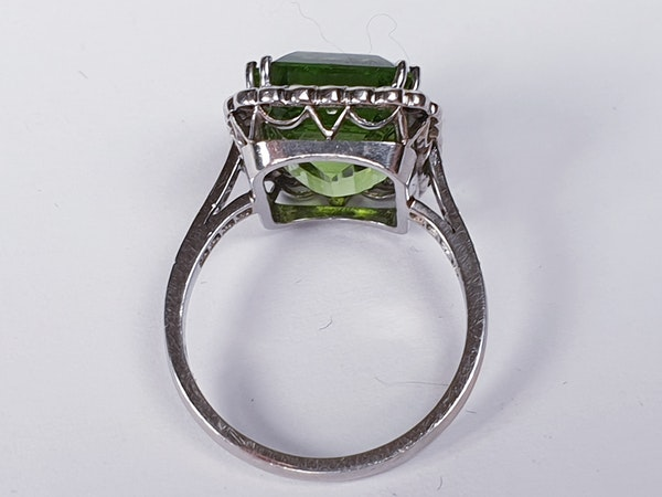 Peridot and Diamond Cluster Ring  DBGEMS - image 3