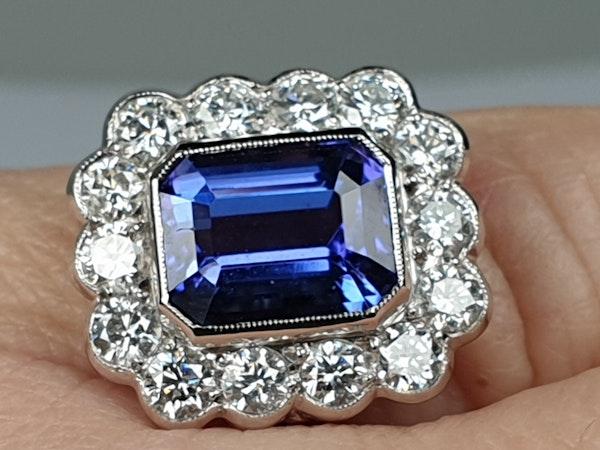 Tanzanite and diamond cluster dress ring  DBGEMS - image 6