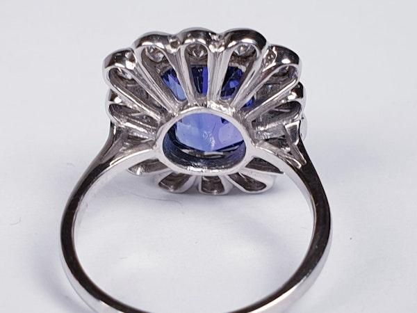 Tanzanite and diamond cluster dress ring  DBGEMS - image 4