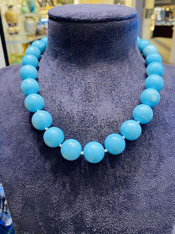 Natural Turquoise Necklace - image 1