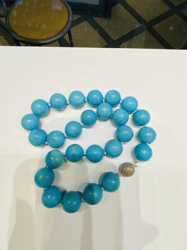 Natural Turquoise Necklace - image 5