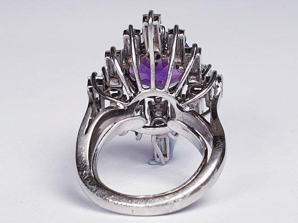 Amethyst and baguette diamond dress ring  DBGEMS - image 3