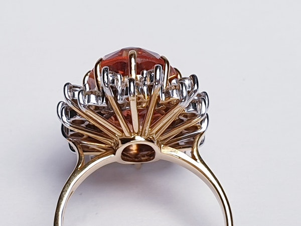 Imperial golden topaz and diamond cluster ring  DBGEMS - image 4