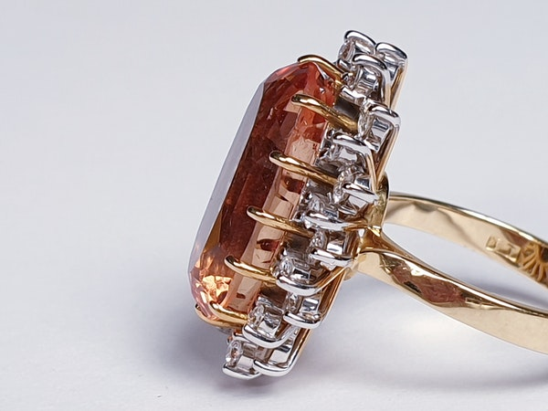 Imperial golden topaz and diamond cluster ring  DBGEMS - image 2
