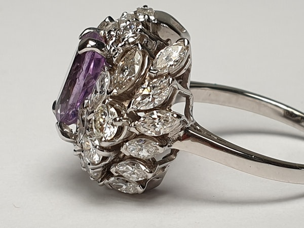 Cool Amethyst and Diamond Cluster Ring DBGEMS - image 5