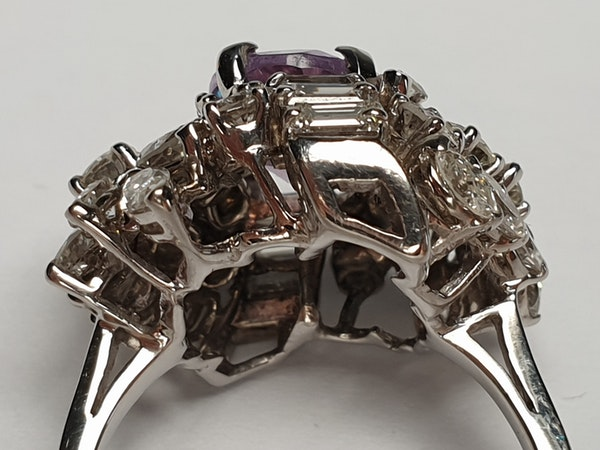 Cool Amethyst and Diamond Cluster Ring DBGEMS - image 3