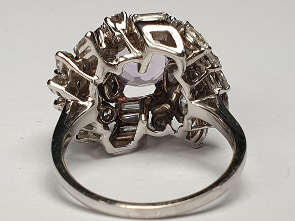 Cool Amethyst and Diamond Cluster Ring DBGEMS - image 4