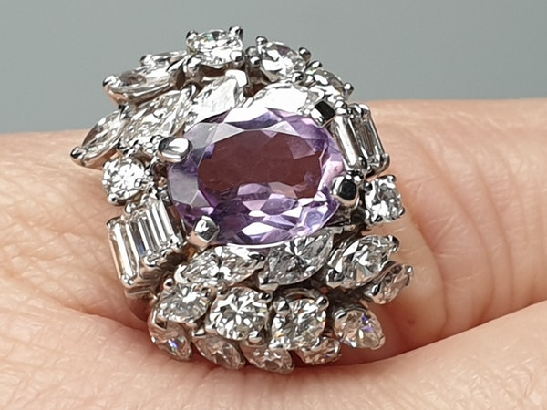 Cool Amethyst and Diamond Cluster Ring DBGEMS - image 6