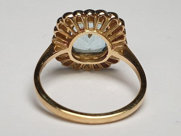 Aquamarine and Diamond Ring  DBGEMS - image 4