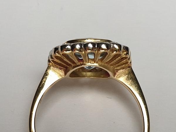 Aquamarine and Diamond Ring  DBGEMS - image 3