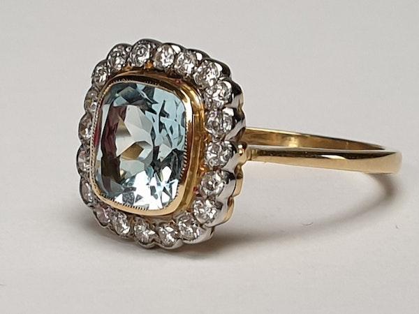 Aquamarine and Diamond Ring  DBGEMS - image 6