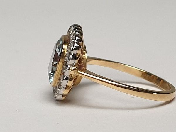 Aquamarine and Diamond Ring  DBGEMS - image 5