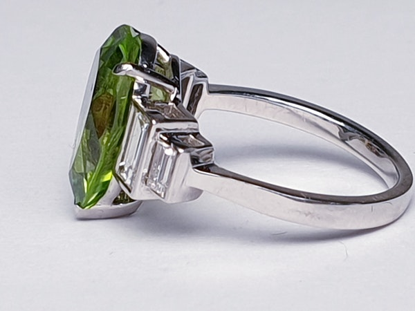 Peridot and Baguette Diamond Ring  DBGEMS - image 7