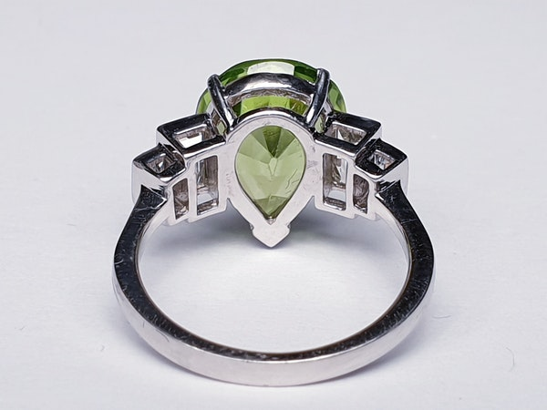 Peridot and Baguette Diamond Ring  DBGEMS - image 6