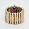 2 colour gold ruby and diamond cluster ring - image 4