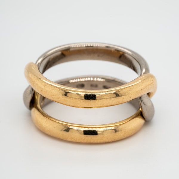 2 colour gold signed Cartier ring - image 2