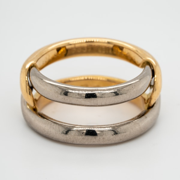 2 colour gold signed Cartier ring - image 3