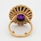 Amethyst and pearl cluster ring - image 4
