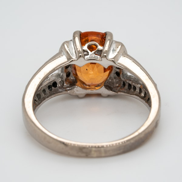 Fire opal and diamond cluster ring - image 4