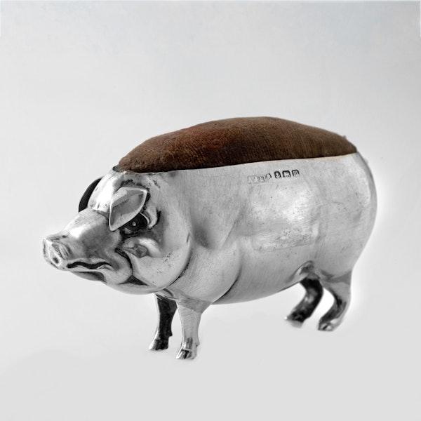 Silver pin cushion pig - image 2