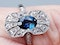 Antique French Art Deco Sapphire and diamond Panel Ring  DBGEMS - image 6