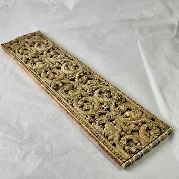 Late sixteenth century Ceylon ivory panel - image 2