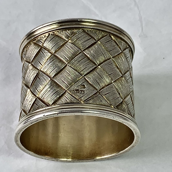 New Russian silver napkin ring - image 2