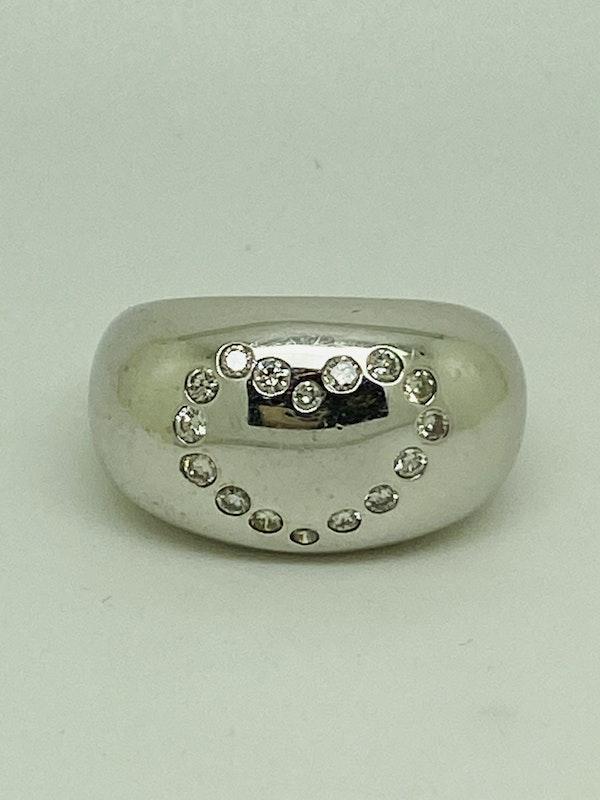 18K white gold 0.50ct Diamond Ring - image 3