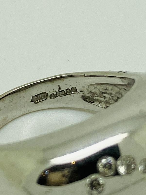 18K white gold 0.50ct Diamond Ring - image 5
