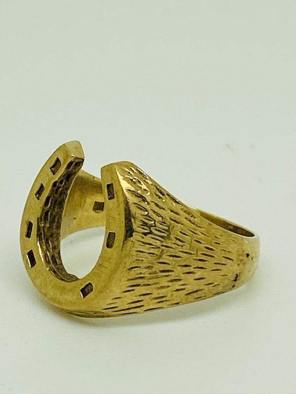 9K yellow gold Ring - image 2
